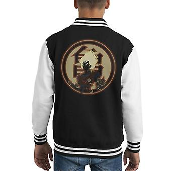 Kame Kanji Dragon Ball Z Kid Varsity Jacket