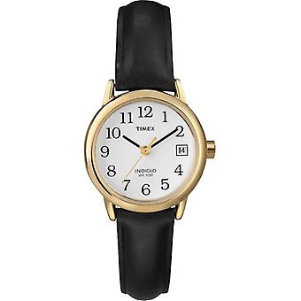 Timex T2H341 Women's Easy Reader Date Watches - Black/Gold