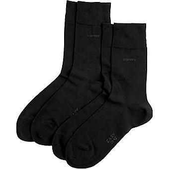 Esprit Basic Soft Cuff 2 Pack Socks - Black