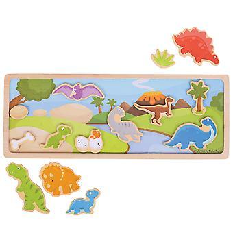 Bigjigs speelgoed magnetische foto verhaal Board (dinosaurus) spel leren