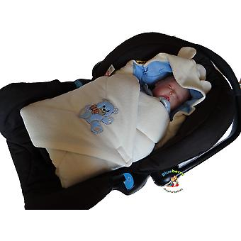 BlueberryShop Hooded Thermo Terry for CAR SEAT Swaddle Wrap Blanket Sleeping Bag for Newborn baby shower GIFT 0-3m