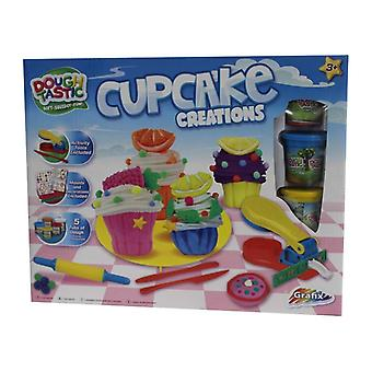 Dough Tastic Cupcake Moulding Set Create Your Own Cake Kids Modelling Set