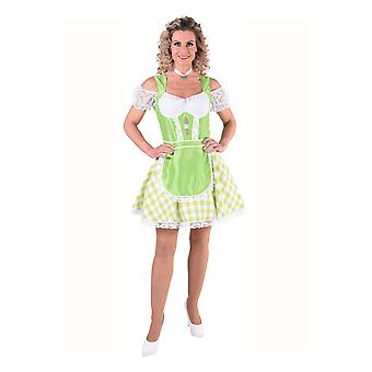 Women costumes  tyrolean dress for women green