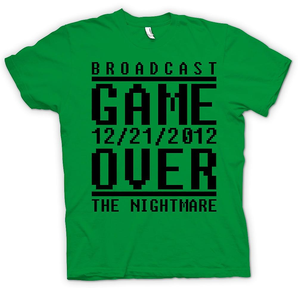 Mens T-shirt - Game Over 2012 Nightmare - Apocalypse End Days