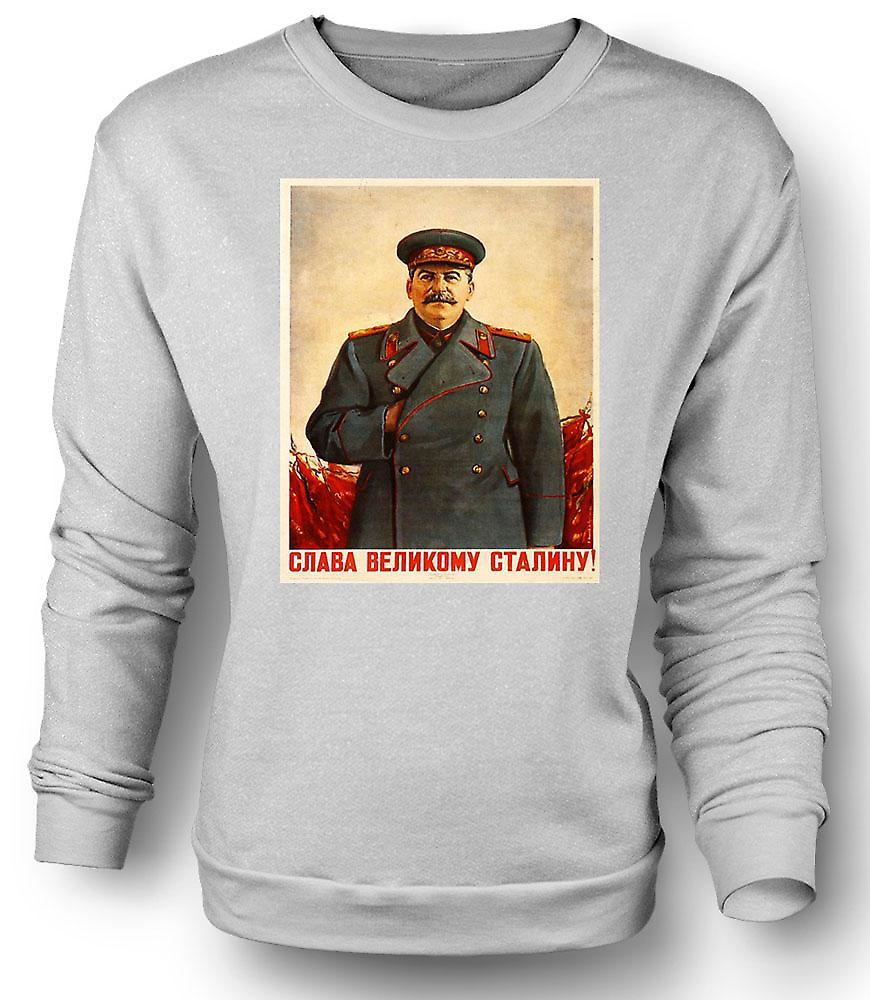 Affiche de propagande russe Mens Sweatshirt - Staline