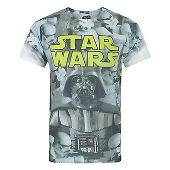 Star Wars Imperial Photo Montage Sublimation Men's T-Shirt White