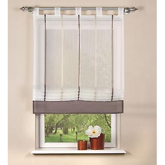 Home interieur ideeën Raffarin blind Gabi transparante verticale streep lussen H/W 150 x 80 cm