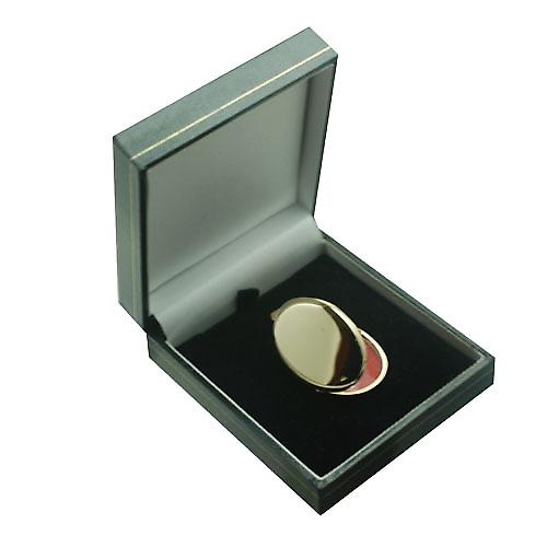 9ct Gold 35x26mm plain handmade oval Locket