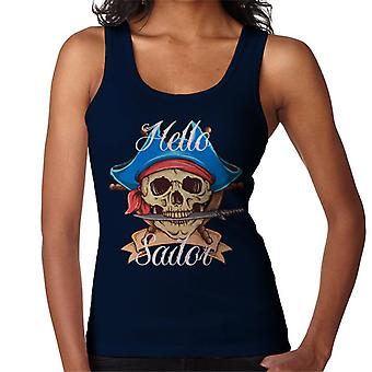 Hello Sailor Pirate Skull Women's Vest