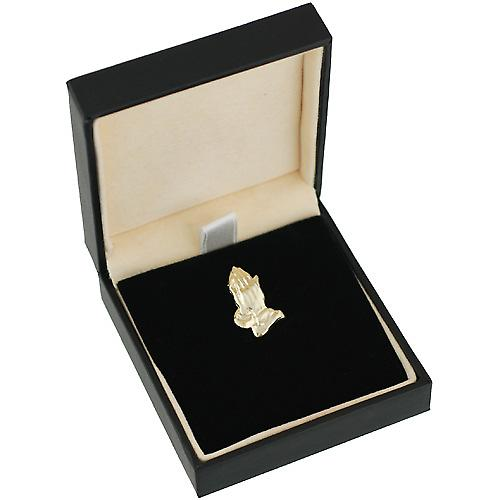 9ct Gold 19x11mm Praying Hands Pendant