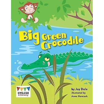 Stora gröna krokodil (Engage läskunnighet blå)