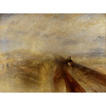 Pluie, vapeur et vitesse, le Great Western, Joseph Mallord William Turner, 50x37cm