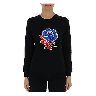 Kenzo Black Cotton Sweater