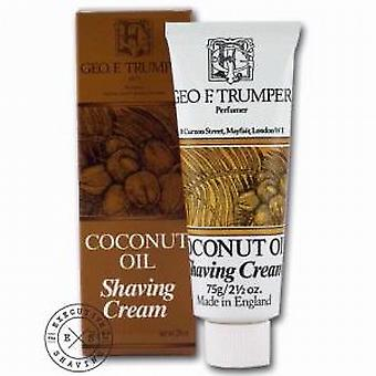 Geo F Trumper Coconut Oil Shaving Cream Tube 75g