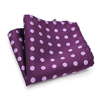 Purple & white polka dot spot pattern pocket square