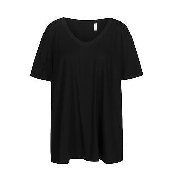 Rosch 1194605-11741 Women's Curve Jet Black Pyjama Top