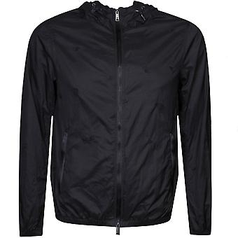 Emporio Armani Blouson Jacket Navy With Black Zip