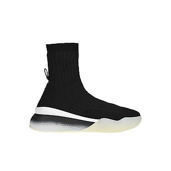 Stella Mccartney Black Fabric Hi Top Sneakers