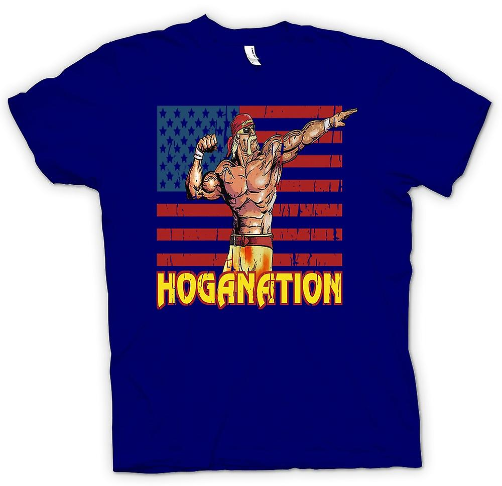 Mens T-shirt - Hoganation - Hulk Hogan US Flag