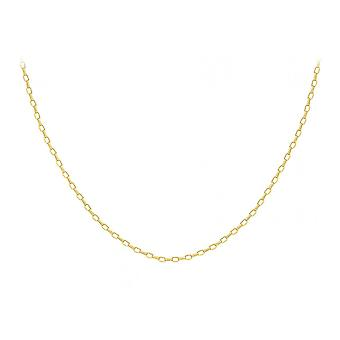Eternity 9ct Gold 24'' Hollow Oval Belcher Chain