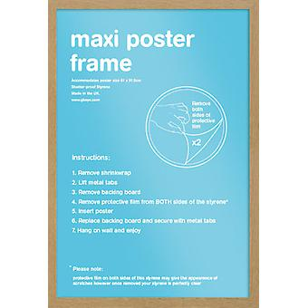 Eton marco roble Maxi cartel / impresión marco