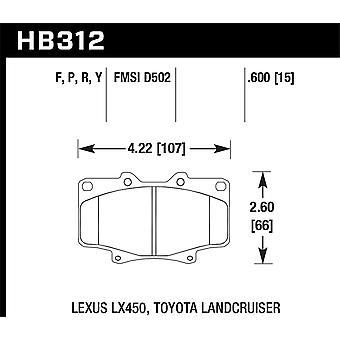 Hawk Performance HB312P.591 Super Duty