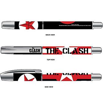 The Clash Pen Stars and Stripes band Logo Official New plastic Black Gel