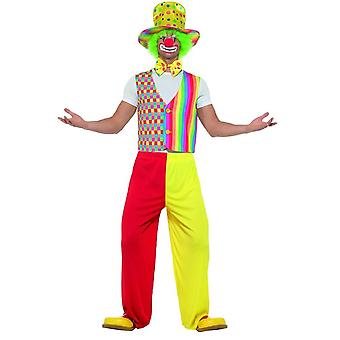 Big Top Clown Kit, Waistcoat, Bow Tie & Hat, Circus Fancy Dress, up to 40