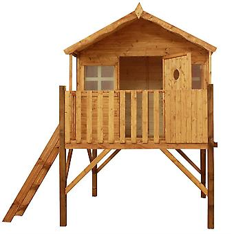 Mercia Honeysuckle Wooden Playhouse with Tower