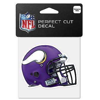 Wincraft hjelm klistremerke 10x10cm-NFL Minnesota Vikings