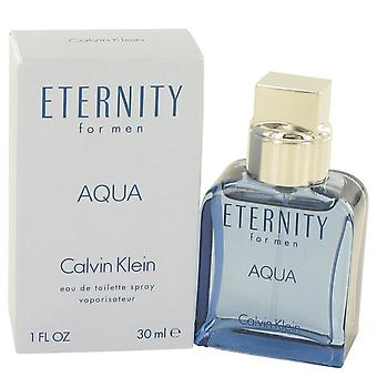 Eternity Aqua de Calvin Klein Eau De Toilette Spray 1 oz/30 ml (hombres)