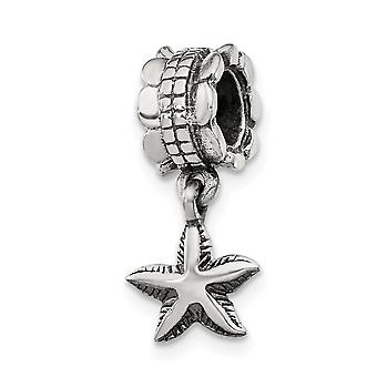 925 Sterling Silver Antique finish Reflections StarFish Dangle Bead Charm