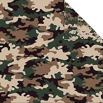 Camouflaged Double Sided Cardstock 12
