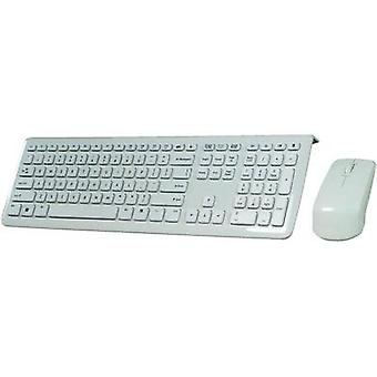 Wireless keyboard/mouse combo Perixx PERDUO-703 White