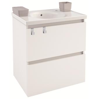Bath+ Cabinet 2 Drawers With White Porcelain Sink Mate 60Cm