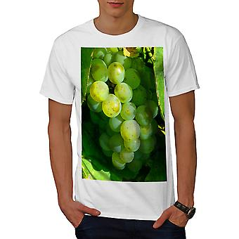 Grapes Wine Photo Food Men White T-shirt | Wellcoda