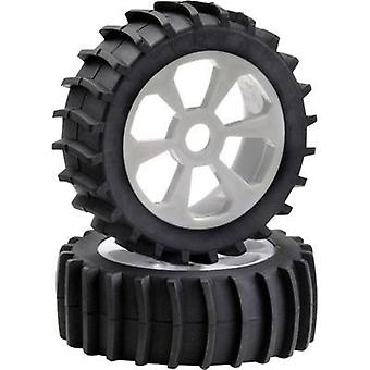 Absima 1:8 Buggy Wheels Sandpaddle fine 6-spoke