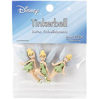 Il habille sous licence embellissements-Disney Tinker Bell DIULBTN-7715