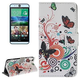 Mobile phone case pouch for phone HTC desire eye motif butterflies