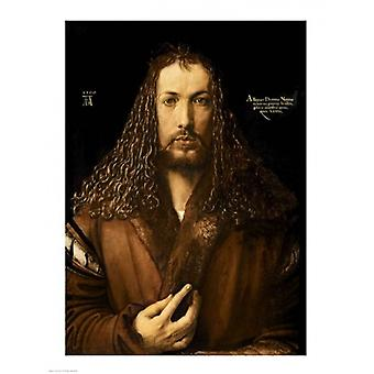 Self Portrait at the Age of Twenty-Eight 1500 Poster Print by Albrecht Durer (18 x 24)