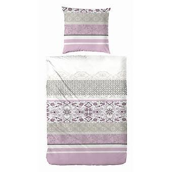 COCK Maco Satin Bed linen 135 x 200 cm purple patterned