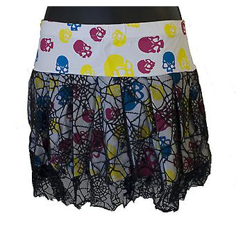 Neon schedels Mini Rok Womens rok