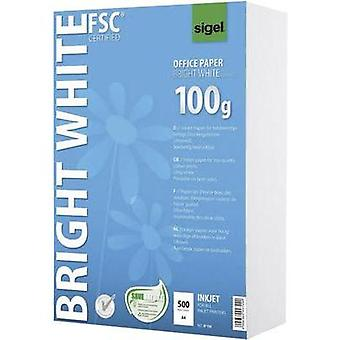 Inkjet printer paper Sigel Bright White Office Paper IP150 DIN A4 100 gm² 500 Sheet Ultra white