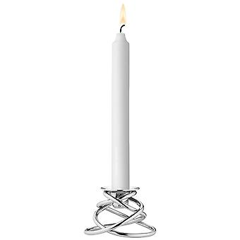 Georg Jensen Glow candle high stainless steel high gloss D 10 cm