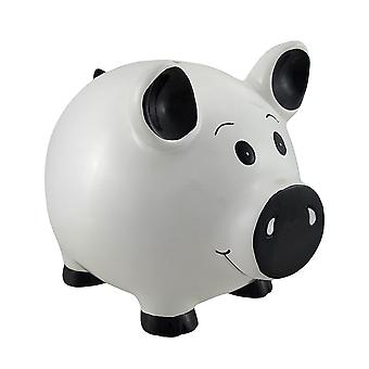 White Piggy Coin Savings Piggy Bank