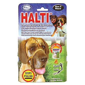Halti Headcollar Padded Black Size 5