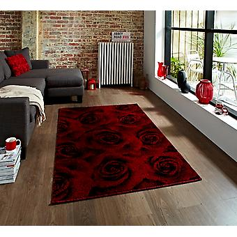 High Quality Luxurious Soft Black Rugs & Red Baroque Rug - Tolka
