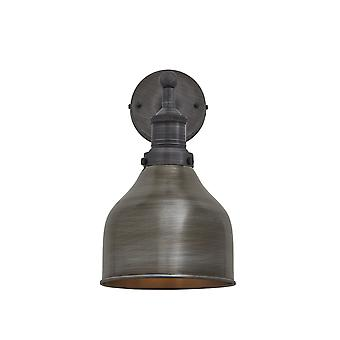 Brooklyn bougeoir Antique Vintage Wall Lamp - cône - sombre Pewter - 7