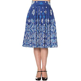 Dancing Days Blue Follow You Skirt XL