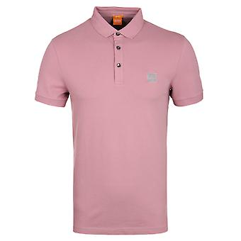 BOSS Orange Pavlik Pale Pink Short Sleeve Pique Polo Shirt